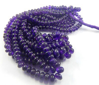 A++ quality natural amethyst smooth roundel beads, gemstone beads