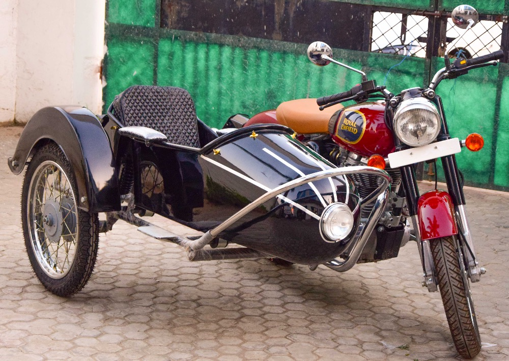 ROCKET MODEL SIDECAR FOR ALL MOTORCYCLE AND SCOOTER harley davidson,royal enfield,lambretta ,vespa