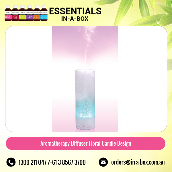 Mood Lifting Aromatherapy Diffuser with therapeutic fragrance Floral Candle Design