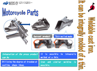 Various types of whiteheart malleable cast iron parts for mini 49cc motorcycle