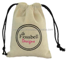 Muslin Drawstring Bags with Double Drawstrings Pouch