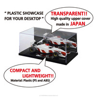 High quality and Easy to use plastic clear case for display models display stand with transparent upper cover made in Japan
