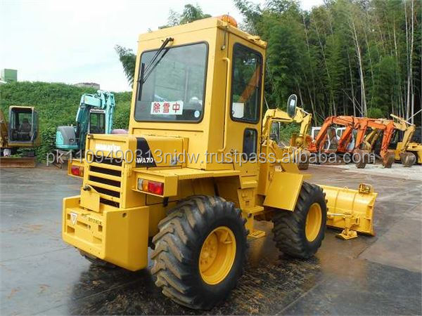 used komatsu WA70 wheel loader, japanese used komatsu WA70 loader for sale