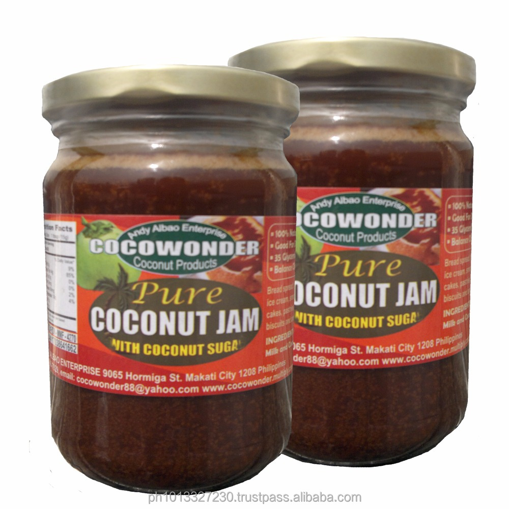 PURE COCONUT JAM made of Coconut Milk & Coconut Nectar, 100% Natural & Functional Food