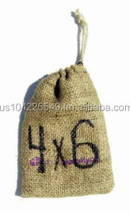 Small Bag with a drawstring made out of burlap 4 x 6