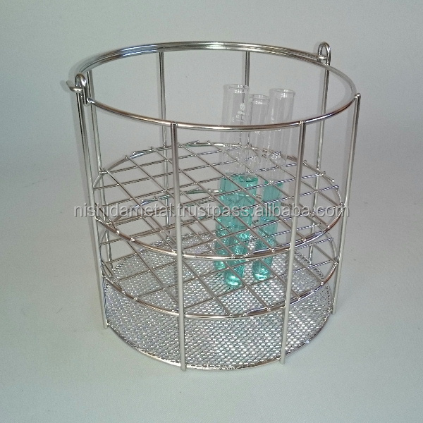 Durable wire basket fits into a reservoir for industrial use, small lot order available