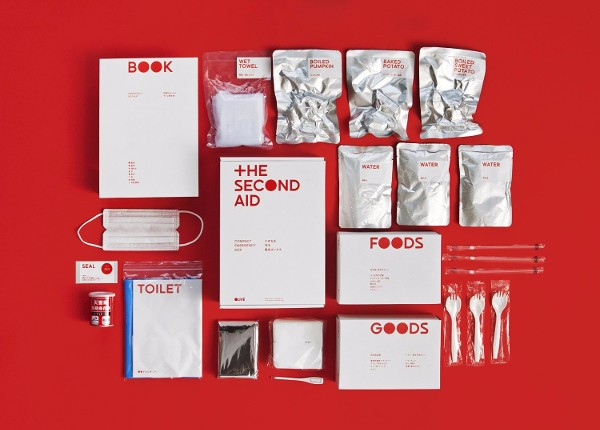 Japanese and Stylish Emergency Survival kit, THE SECOND AID for disaster