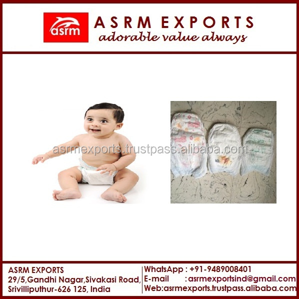High Absorbency Printed Cloth like Backsheet Disposable Baby Diaper