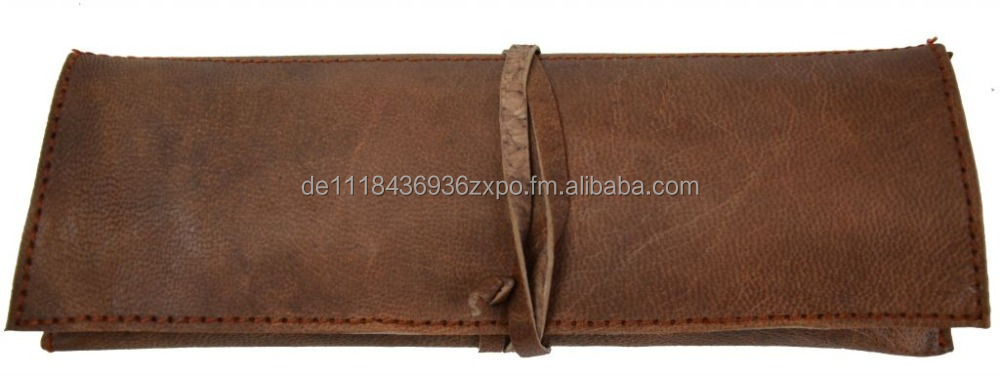Leather Bag Stationery Pencil Pen Case Gusti Leder