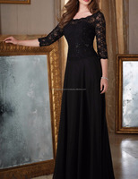 Quarter Sleeve Lace Evening Gown