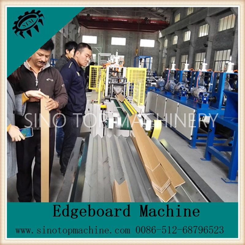 New style CE quality paper edge board machine to make corner