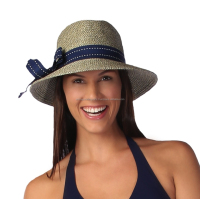 FEDORA SUN HAT- NAVY TWEED BWH46