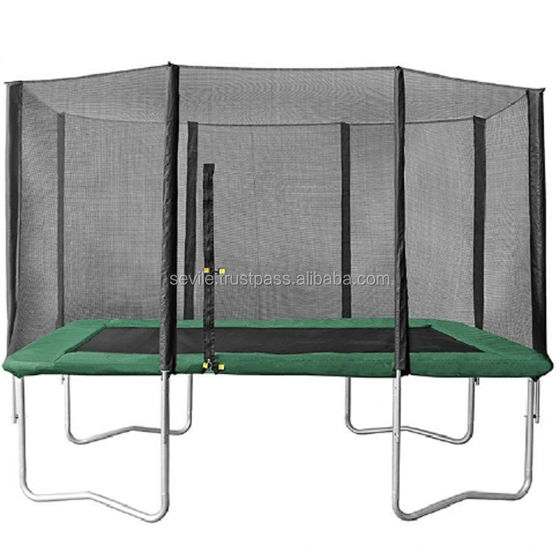 Cheap Rectangular Trampoline with Safety Nets