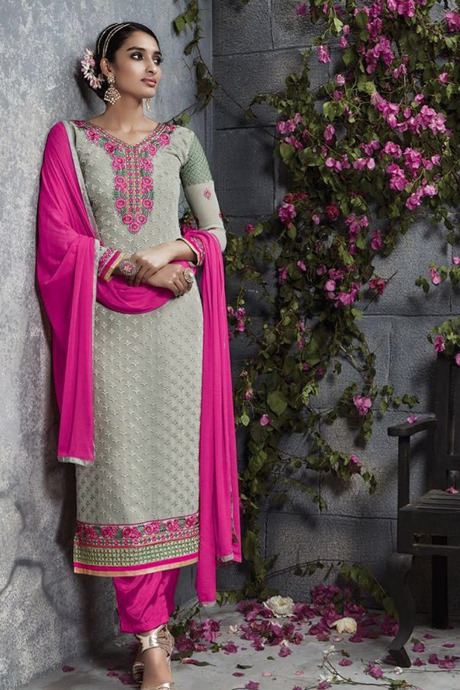 Katan Long Full Sleeve Salwar Kameez Seller In United States/Heavy Work Embroidered Suits In Rajasthan/Bollywood Latest Suits