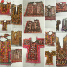 WHOLESALE LOT banjara hand embroidery with mirror work front neck piece