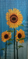 Painted Beaded Door Curtain three sunflowers
