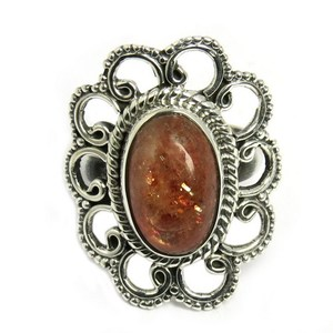 Natural !! Red Sun Stone 925 Sterling Silver Jewelry Ring, Designer Pieces Silver Jewelry, 925 Silver Jewelry