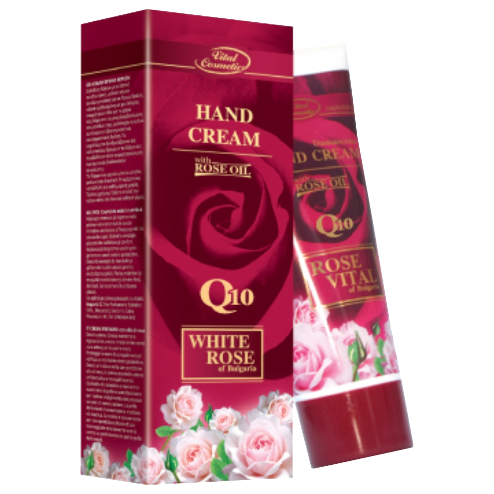 Hand cream with rose essence oil - 75 ml