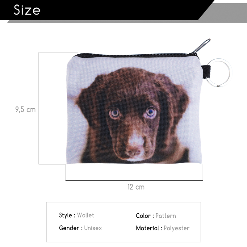 FactorytoShop (UK) Stylish, Cute Brown Puppy Design Print Square Purse/ Clutch Wallet