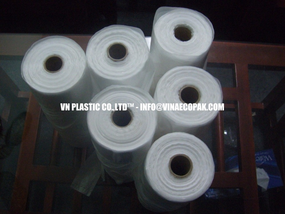 100%VIRGIN BAGS ON ROLL FOR PACKING FOOD,FRUIT, VEGETABLE.... (SAFETY OF HEALTH-EU CERTIFICATE AND LFGB CERTIFICATE)
