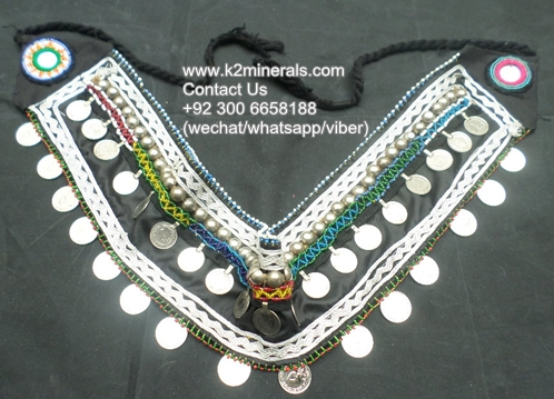 Coined kuchi fabric antique handcrafted beaded belt