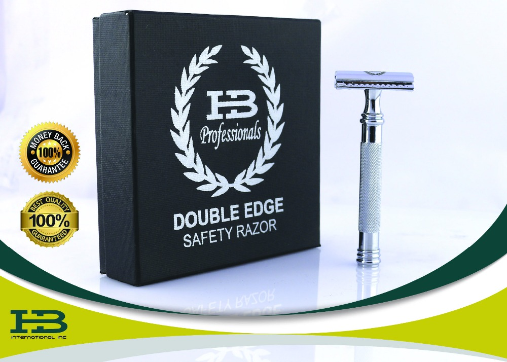 Best Double Edge Safety Razor With Box Shine Finish (DERBY BLADES INCLUDED) For Men Great For Shaving