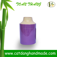 Classic bamboo vase made by vietnamese