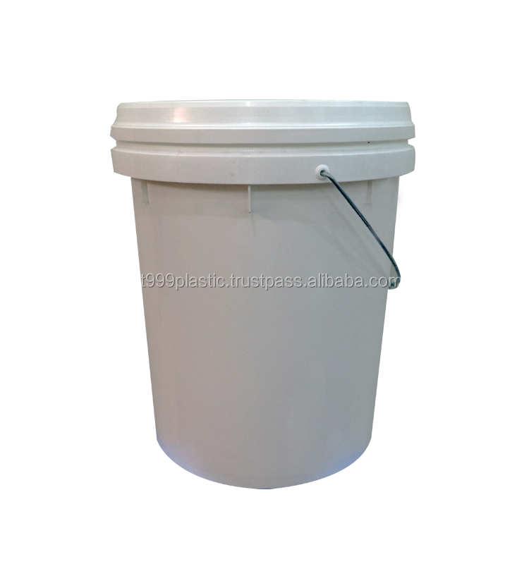1L, 5L, 18L, 20L PP plastic pail with lid and handle for paint, lubricant... containers