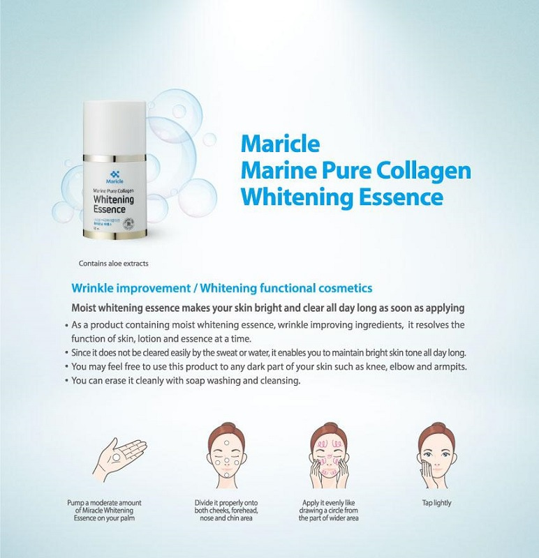 Maricle Marine Pure Collagen Whitening Essence, Whitening Cream, Korean skin care