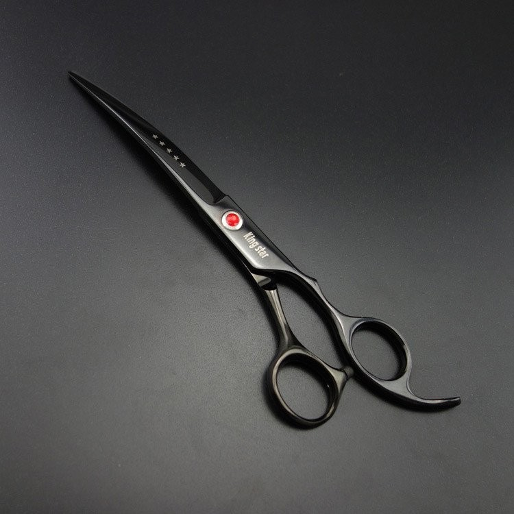 New paper coating 440C Stainless Steel Pet Shears Grooming Straight Scissor