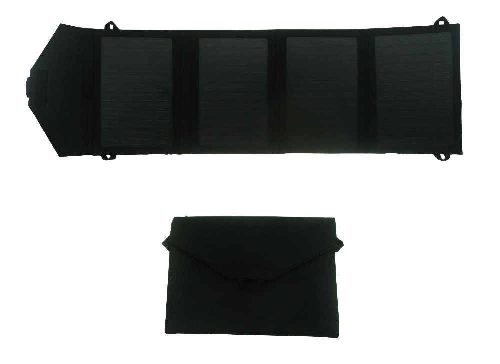 Singapore, 14W Foldable Solar Power Bank integrated with Fabric bag, Applicable as portable solar charger kit for mobile