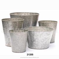 Galvanized Zinc Flower Garden Planter
