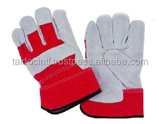 A B C grade cow leader with Red Gray Yellow Blue High Quality working gloves