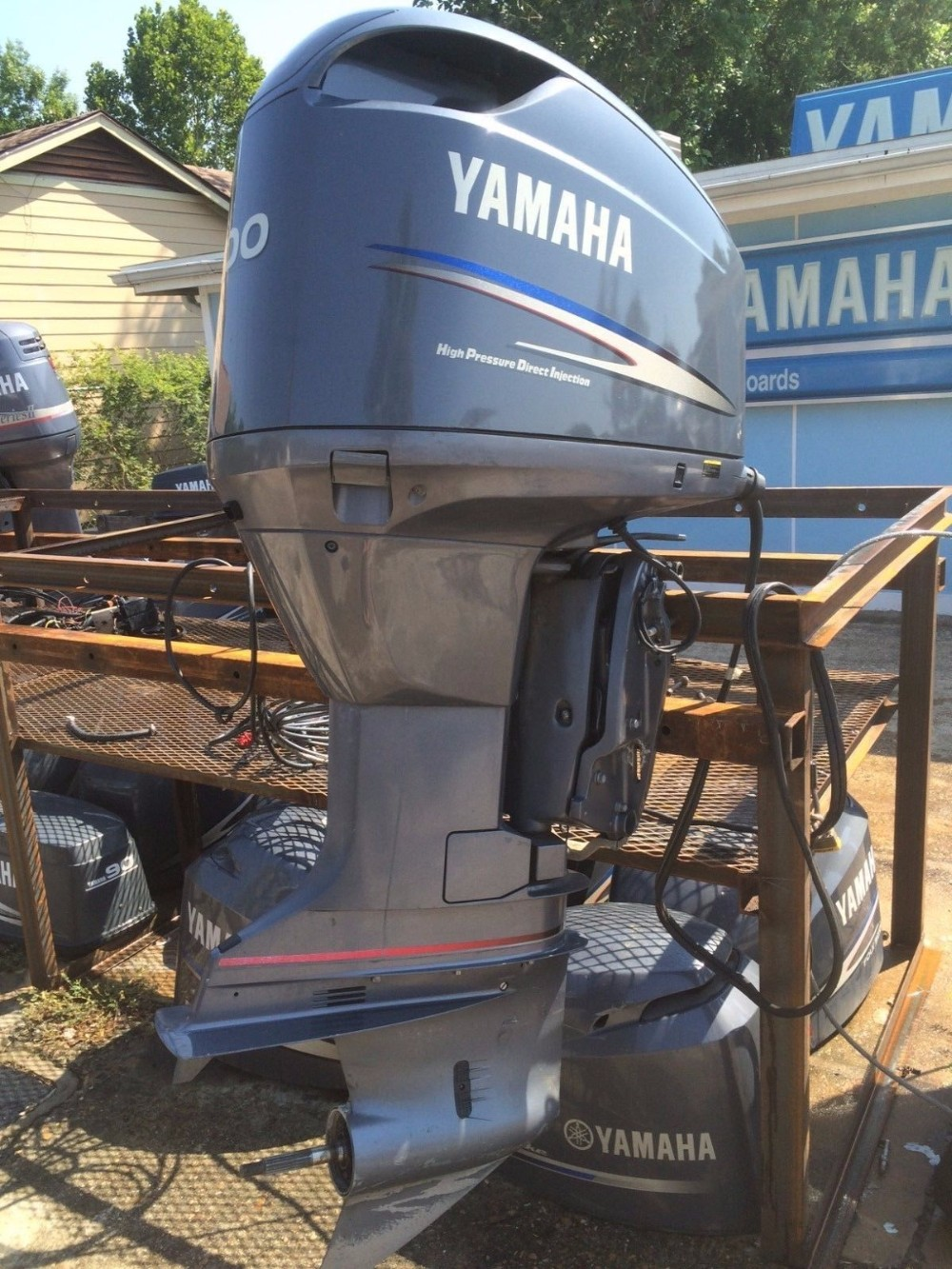 Free Shipping For Used Yamaha 300 HP 4-Stroke Outboard Motor Engine