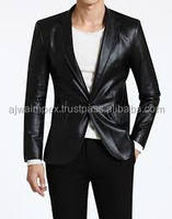 men casual fashion dress coats with black colors