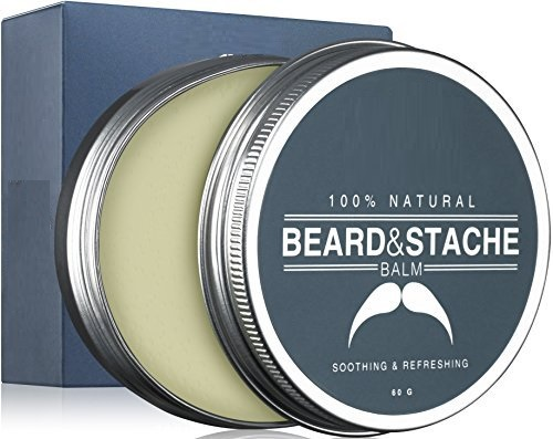 Beard & Mustache Balm / Oil / Wax / Leave In Conditioner 60 gm - 100% Natural Conditioning that Soothes Itching -