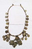 New Arrival vintage banjara Necklace Handmade from old textiles and coins