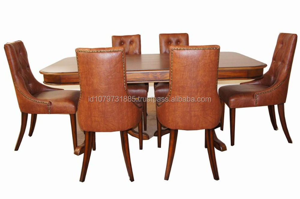 willy chair w/pedestal dining set ( 6 chairs )