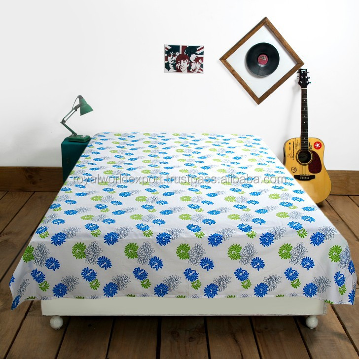 100% pure cotton linen bedding colorful print imported bed linen luxury hotel bedding supply country style bedding