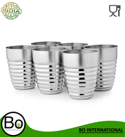 Stainless Steel Deluxe Silver Tumblers - 300 ml Each Deluxe Tumbler 12.7 cm