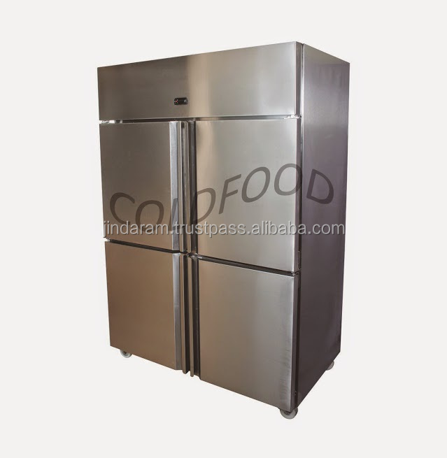 4 door vertical commercial kitchen refrigerator