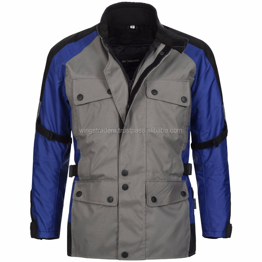 New Design Biker jacket Tourer Cordura Textile Scooter Grey Black Blue Available In All Color And Size
