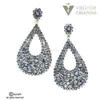 Latest Model Fashion Earrings,925 Sterling Silver Color Stone Earring,Big Color Stone Earring