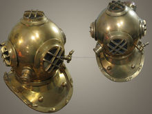 Antique Diving Helmet, Diving Helmet, Diver Helmet