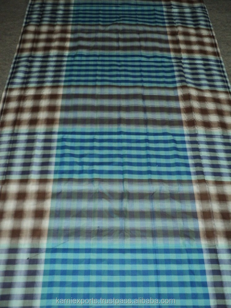 Sarong for man/Lungi swimwear cotton indian checkered pattern 48*79 inch size lungi