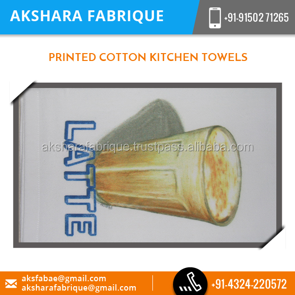 Designer Exotic Printed Cotton Kitchen Towels from India