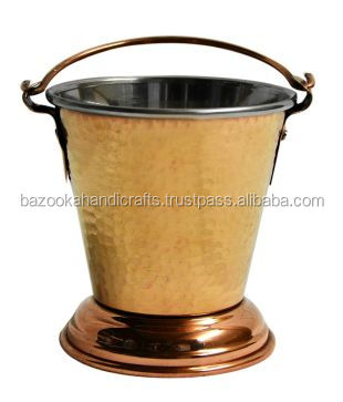 Copper Bucket, Bathing Bucket, Hammered Bucket