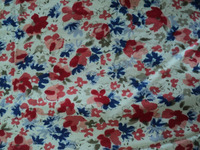 100% viscose small floral printed fabric / screen printed viscose fabric / Womans dress fabric