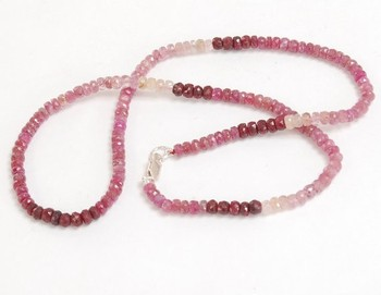 "16"" Long 1 Strand Ruby 2.5 -3mm Gemstone Beads Necklace In Chicago"