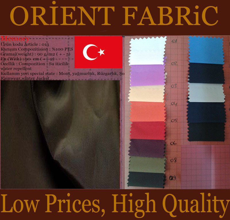 polyester memory jacket fabric from turkey